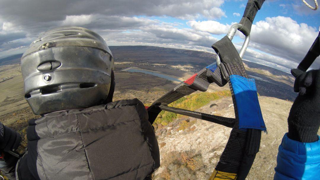 Полет на параплане на горе Тас-Тао (п. Заречное, Симферопольский район) - фото 4