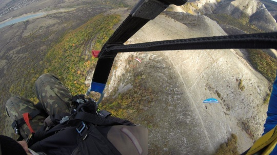 Полет на параплане на горе Тас-Тао (п. Заречное, Симферопольский район) - фото 5