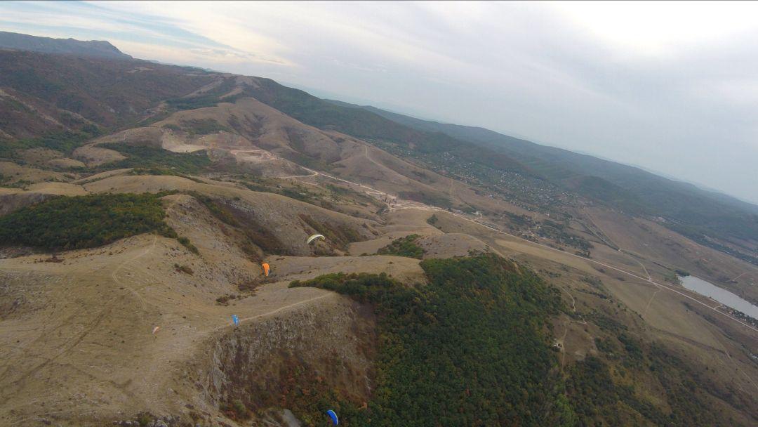 Полет на параплане на горе Тас-Тао (п. Заречное, Симферопольский район) - фото 6
