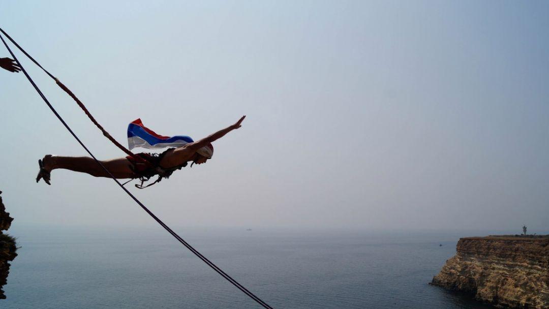 Прыжок на мысе Фиолент 62 метра - фото 3