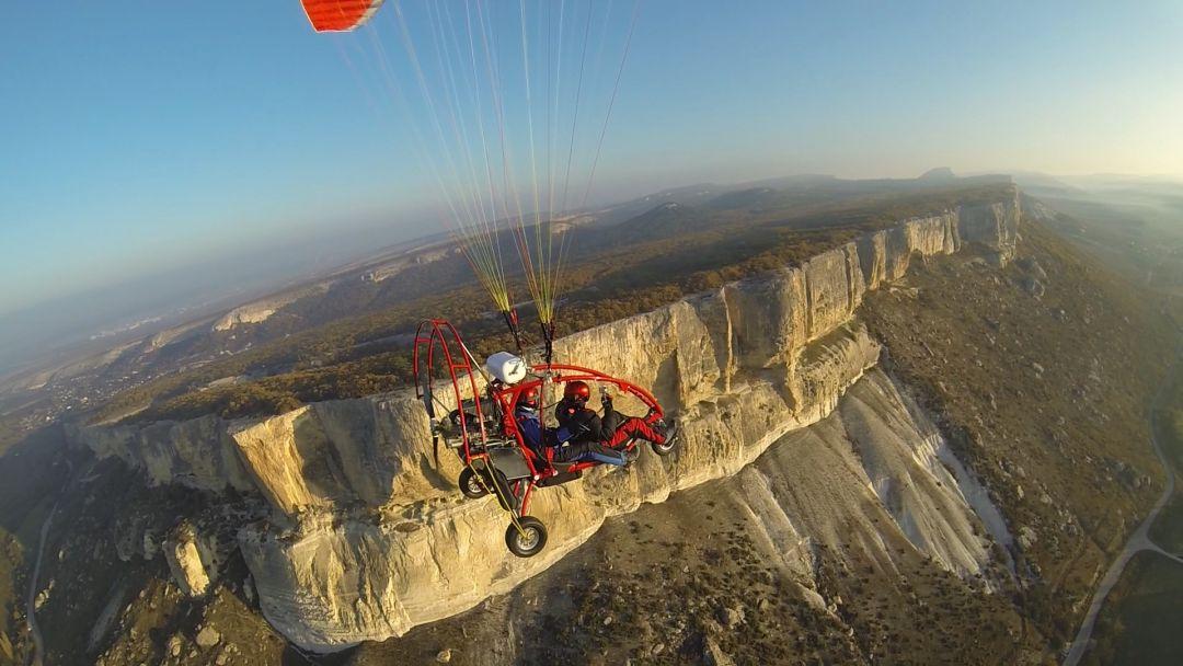 Экскурсия Полёт на паралёте над Крымскими горами и пещерными городами
