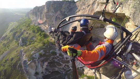 Полёт на паралёте над Крымскими горами и пещерными городами - фото 2
