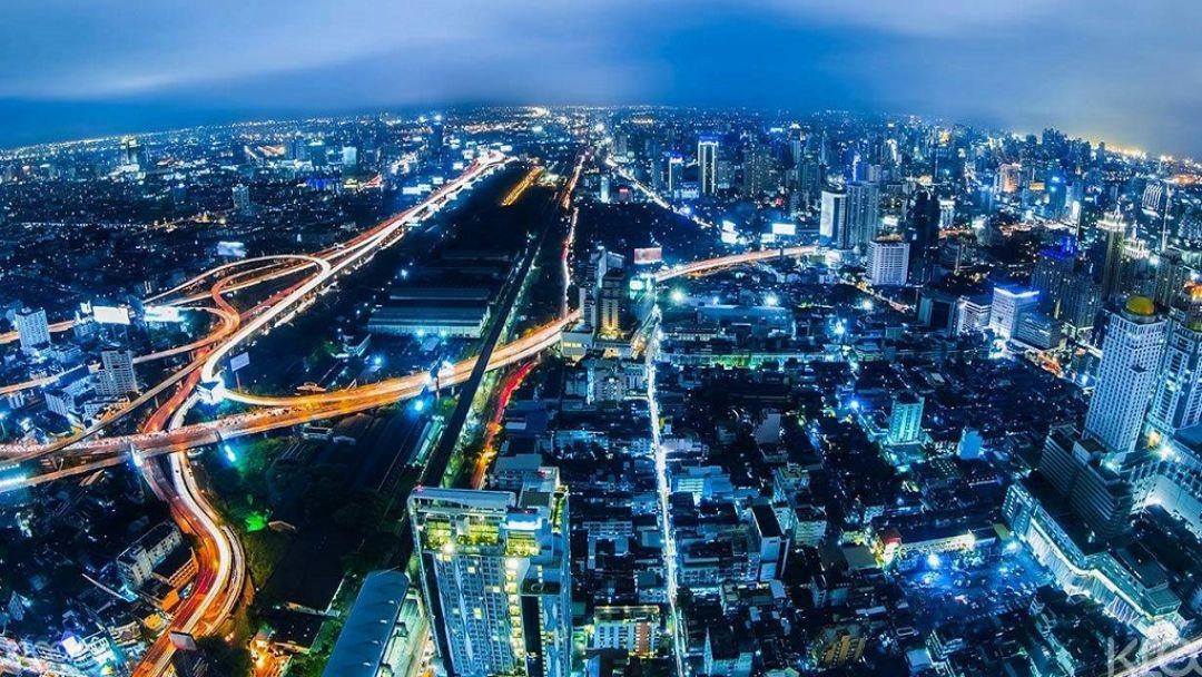 Бангкок с высоты птичьего полета в Бангкоке