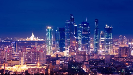 Москва-Сити по Москве