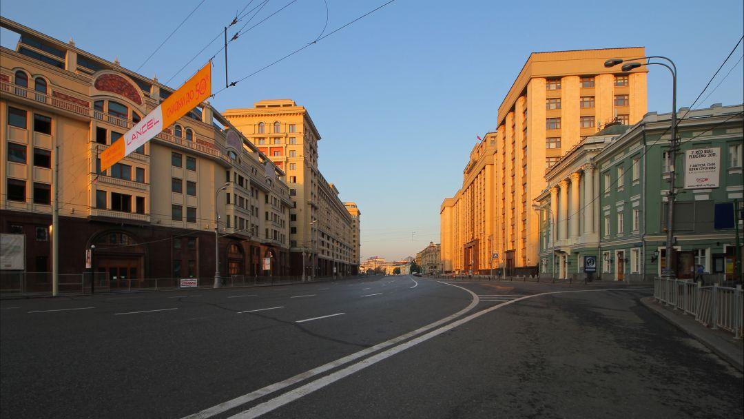 Охотный ряд по Москве