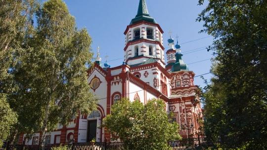 Крестовоздвиженская церковь в Иркутске