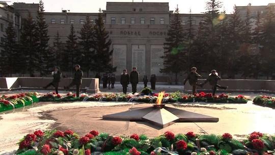 Мемориал «Вечный огонь» в Иркутске