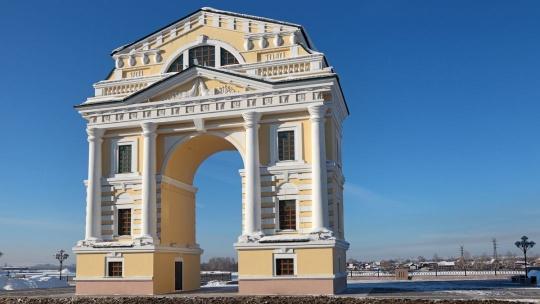 Московские Триумфальные ворота в Иркутске