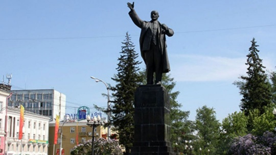 Памятник Ленину в Иркутске