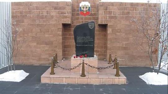 Памятник сотрудникам ОМОН УВД Иркутской области, погибшим при исполнении служебного долга в Иркутске