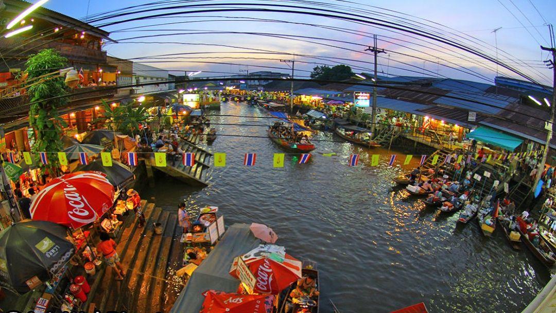 Плавучий рынок за городом - фото 3