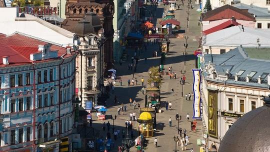 Улица Баумана по Казани