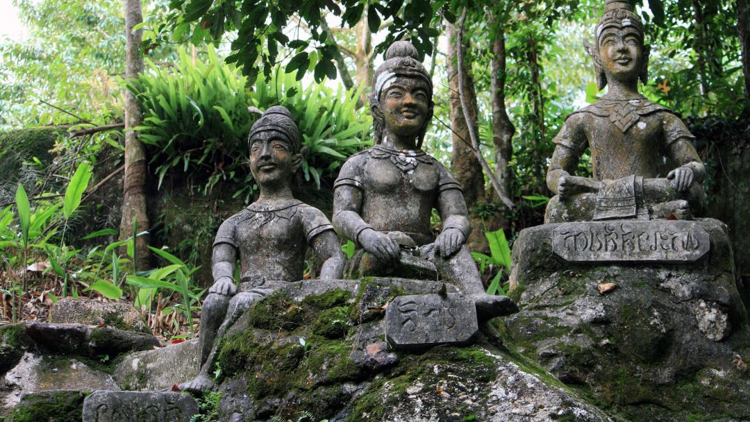 Водопад Тарним в секретном Саду Будды по Самуи