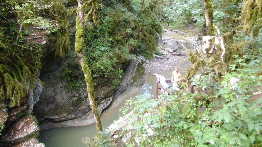 Сухой и мокрый каньоны реки Псахо - фото 1