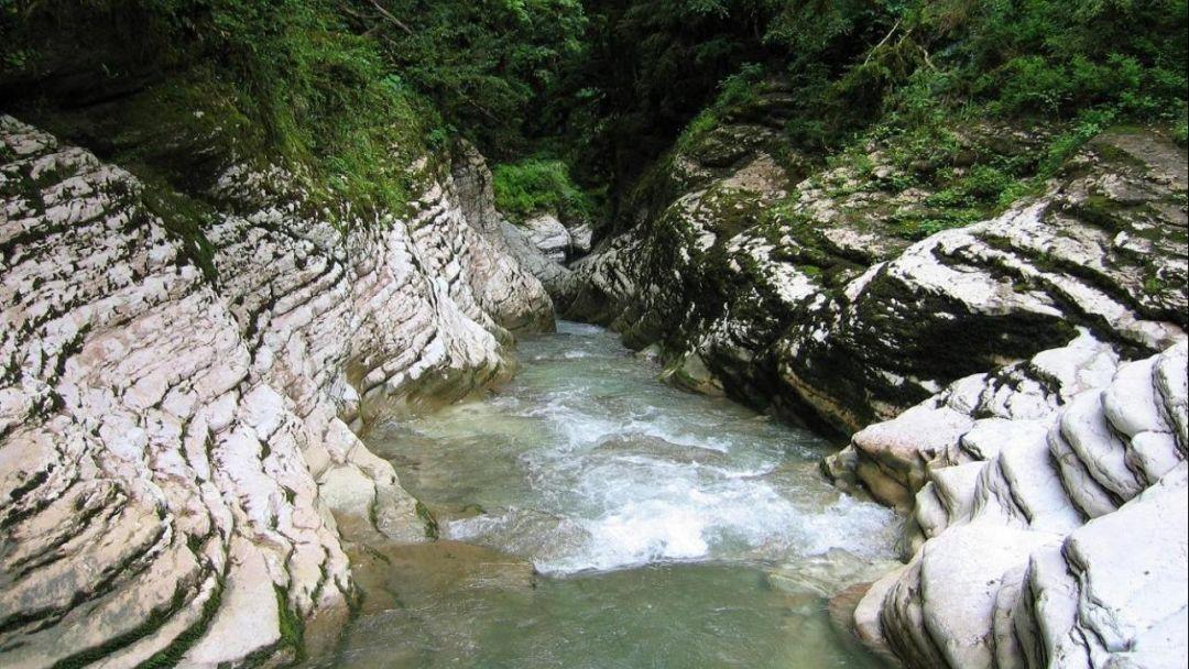 Верхний каньон реки Псахо - фото 2