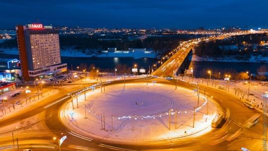 Площадь 350 летия  по Красноярску