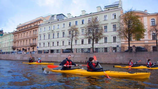 Экскурсия Прогулки по Санкт-Петербургу на каяках