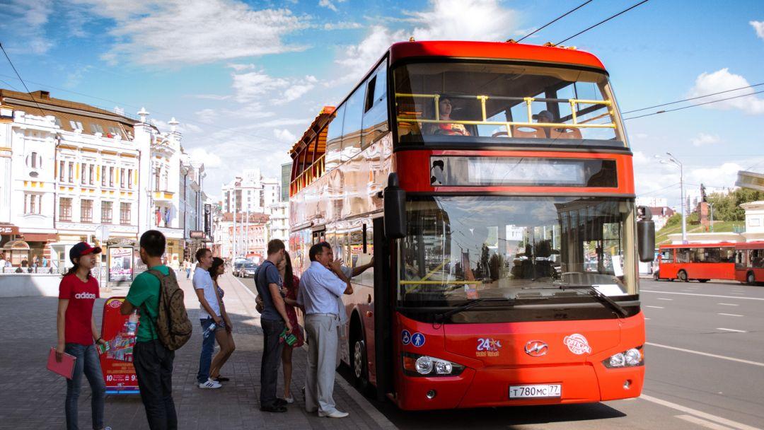 Экскурсия Прогулка на двухэтажном автобусе по Казани с аудиогидом