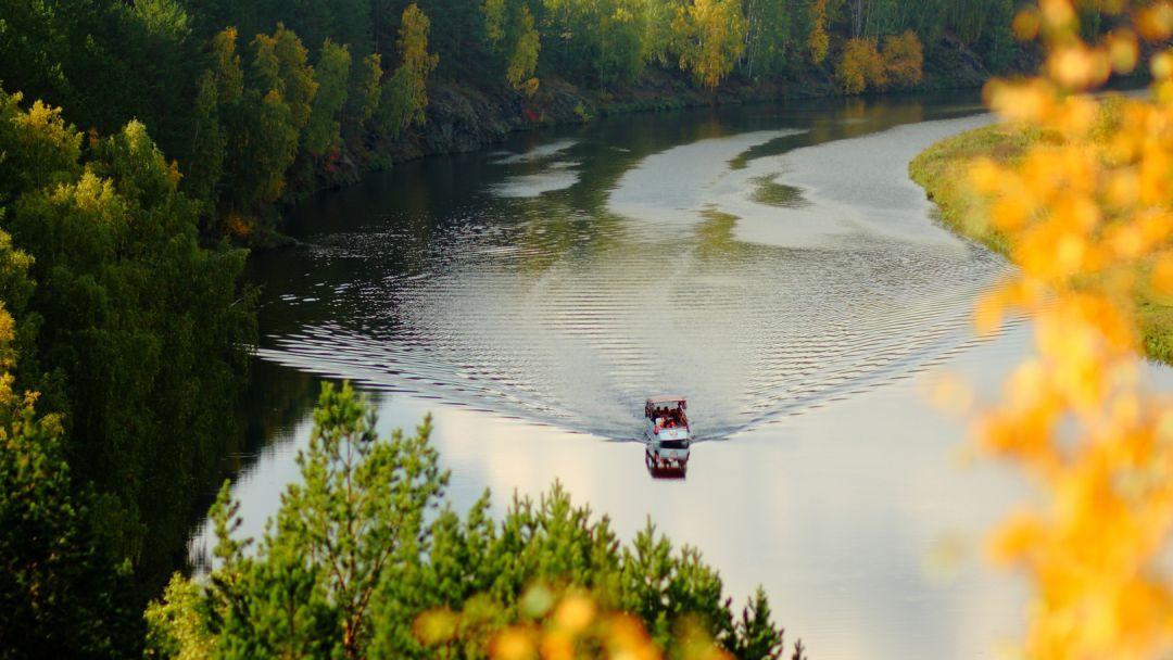 Речной трамвайчик. Исетский каньон - фото 2
