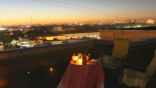 Романтический вечер на крыше в центре города - фото 3