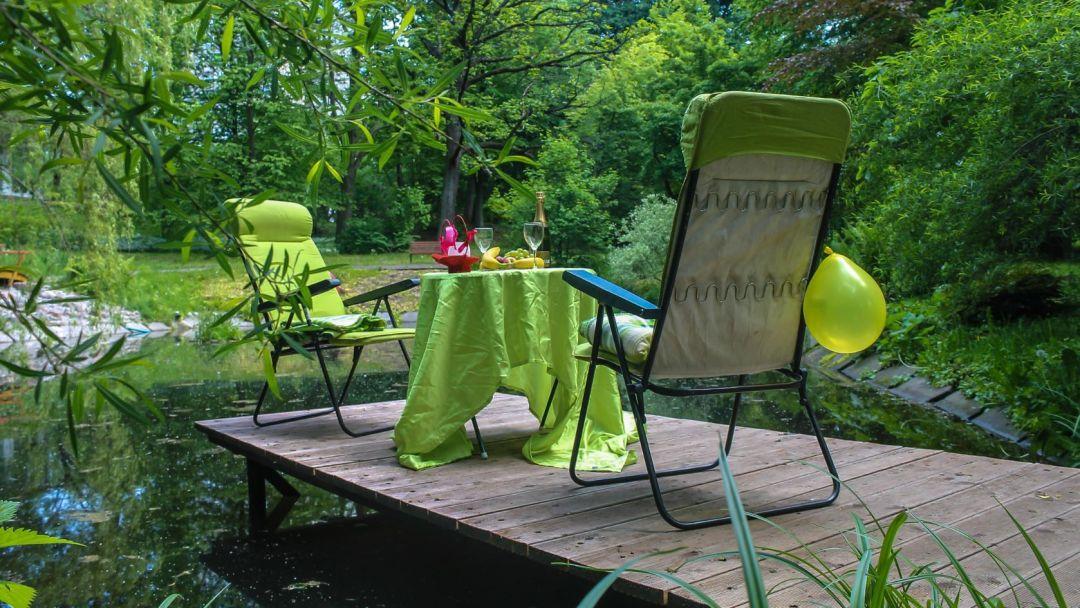 Ужин у озера в ботаническом саду - фото 2