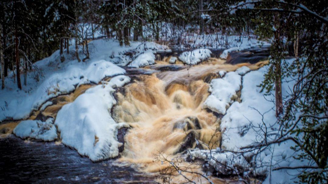 Новогодние водопады Карелии - фото 3