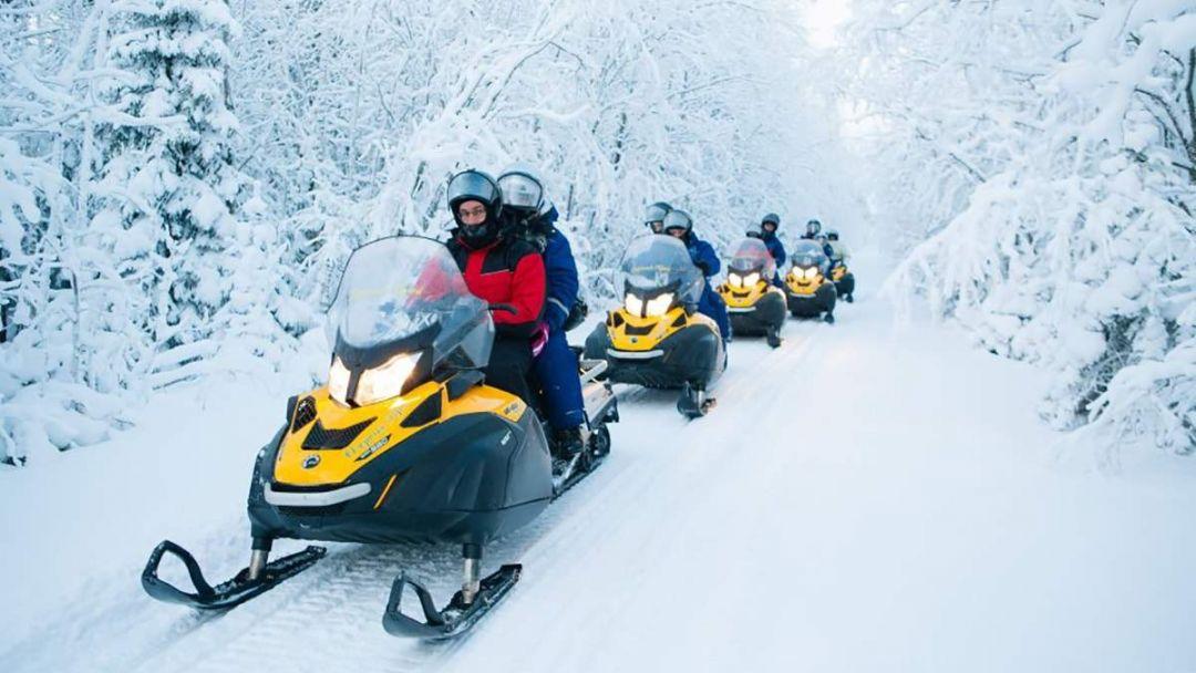 Сафари на снегоходах в Петрозаводске