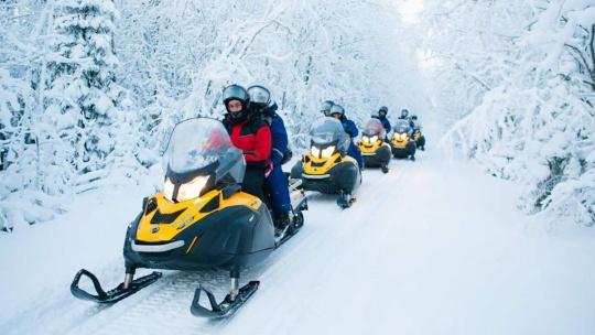 Экскурсия Сафари на снегоходах в Петрозаводске