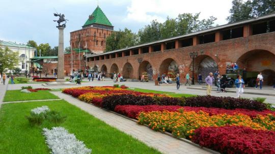 Нижегородский кремль по Нижнему Новгороду