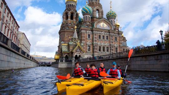 Экскурсия Прогулка на каяках по Центру Санкт-Петербурга в Санкт-Петербурге