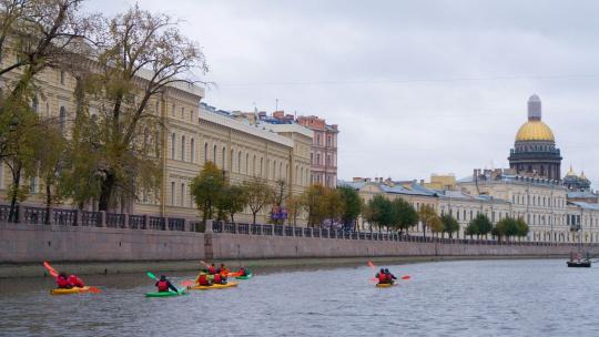 Прогулка на каяках по Центру Санкт-Петербурга - фото 3