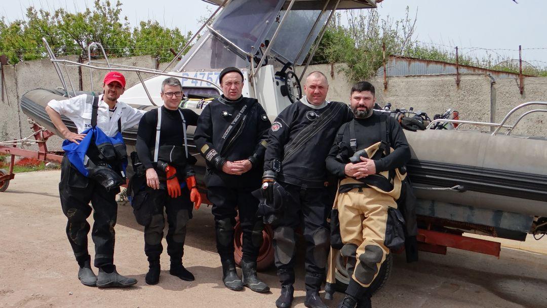 Дайвинг, погружение с аквалангом в Черном море с берега в Новороссийске