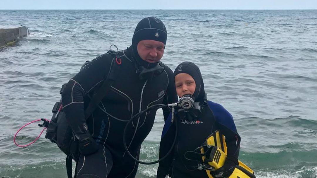 Ознакомительное погружение с аквалангом в Ялте - фото 3