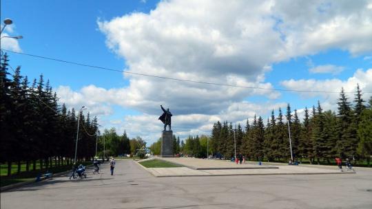 Площадь имени Ленина (Горсовет) по Уфе