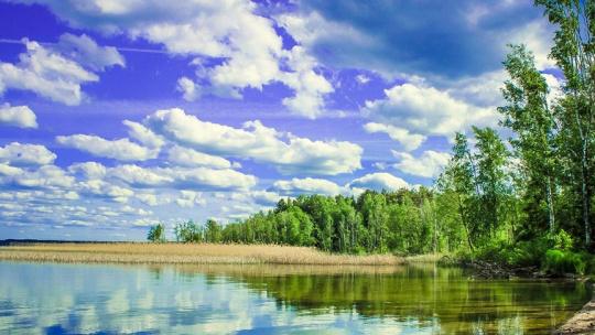 Озеро Виштынец в Калининграде