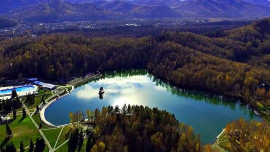 Озеро Ая по Горно-Алтайску