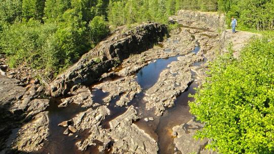 Вулкан Гирвас в Карелии в Петрозаводске