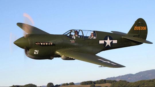 Самолет Curtiss P-40 «Кёртисс П-40» в Новороссийске