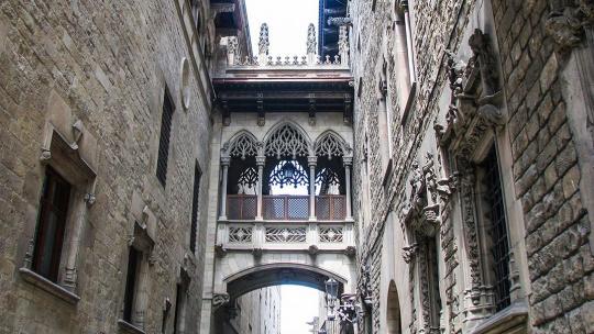 Готический квартал Барселоны в Барселоне