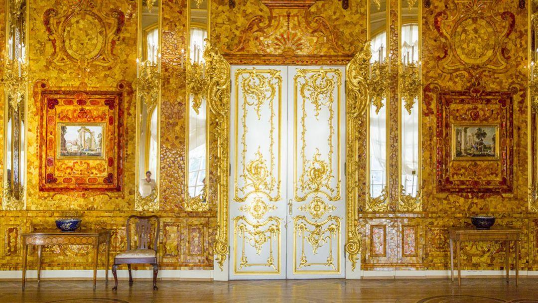 Пушкин (Царское Село) Екатерининский дворец, Янтарная комната - фото 3