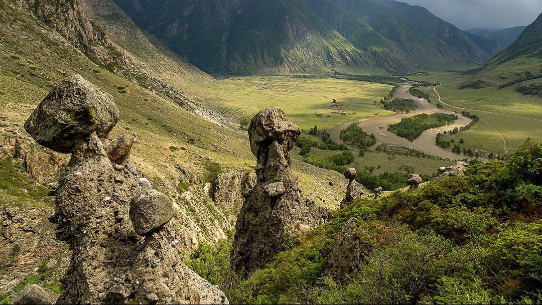 Каменные грибы Чулышманской долины - фото 1