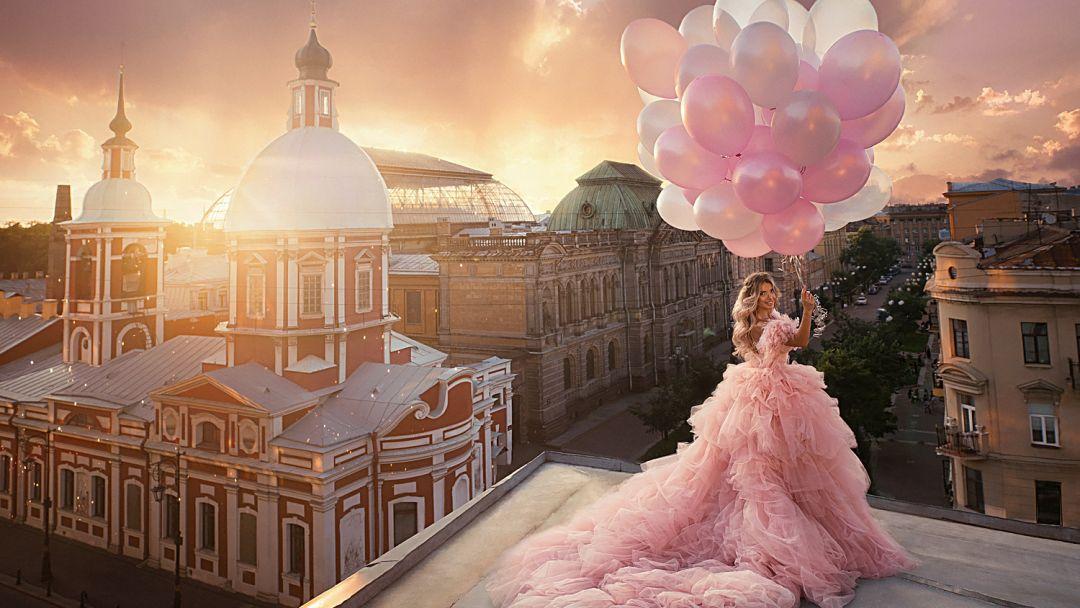 Фотосессия на крышах Санкт-Петербурга. - фото 1