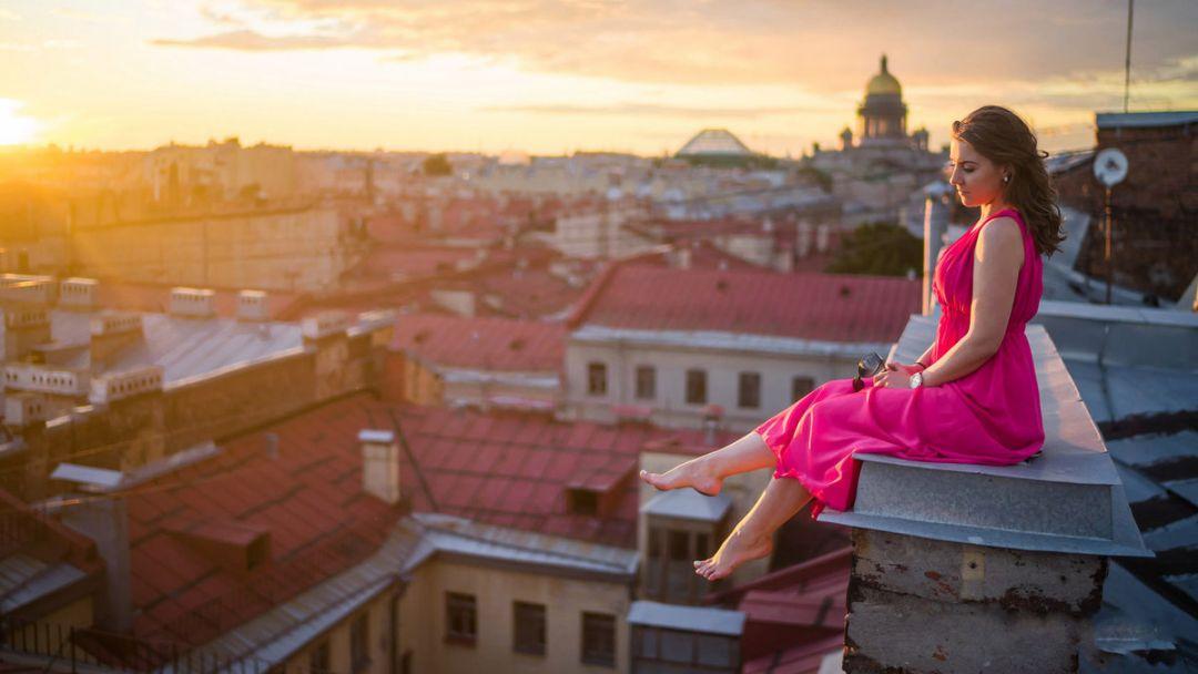 Фотосессия на крышах Санкт-Петербурга. - фото 3