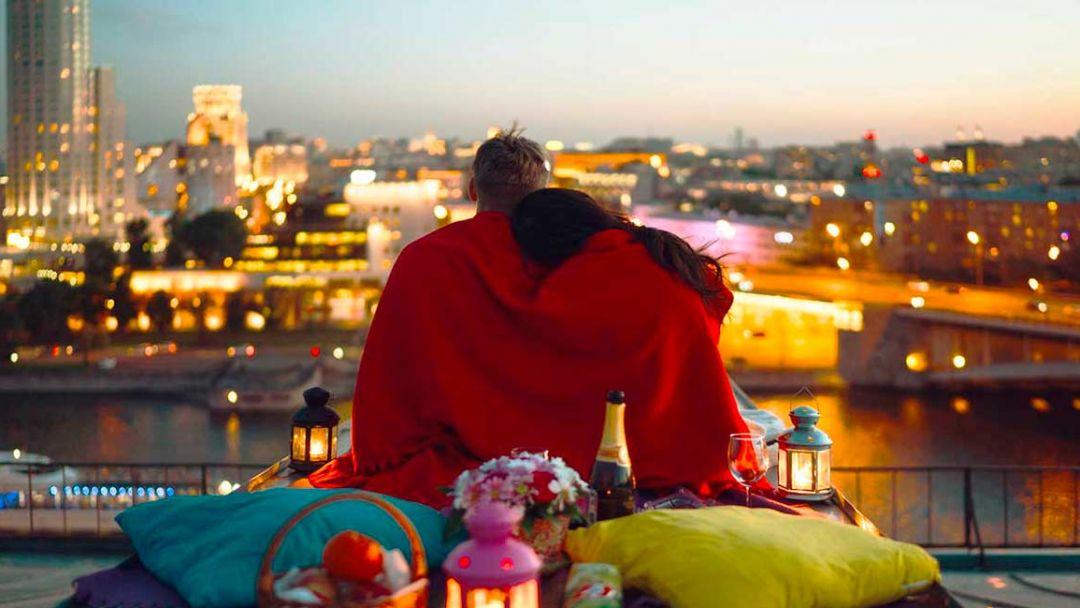 Романтическое свидание на крыше Москвы. в Москве