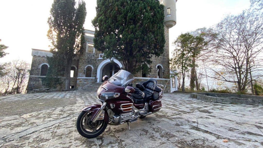 На мотоцикле на Большой Ахун - фото 1