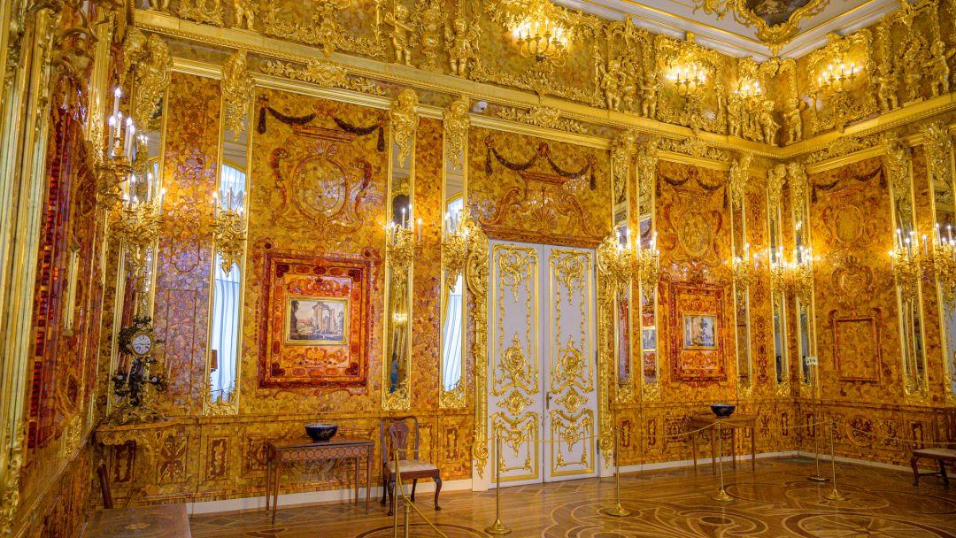 Пушкин (Царское Село)+ Екатерининский дворец +Янтарная комната - фото 3