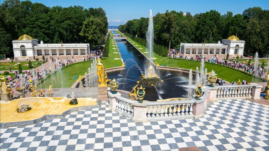 Петергоф + большой дворец+малый дворец+парк+фонтаны в Санкт-Петербурге