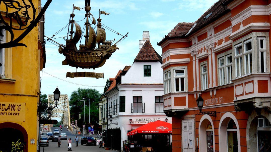 """Старинный Дьёр - """"город балкончиков"""" и аббатство Паннохалма"""