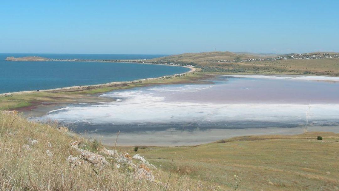 Грязевое озеро Чокрак в Керчи