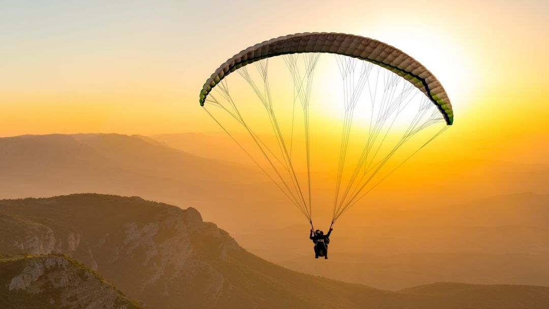Полет на параплане на горе Клементьева   в Феодосии